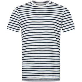 super.natural Comfort Print T-shirt Heren, fresh white/navy blazer fine stripe print